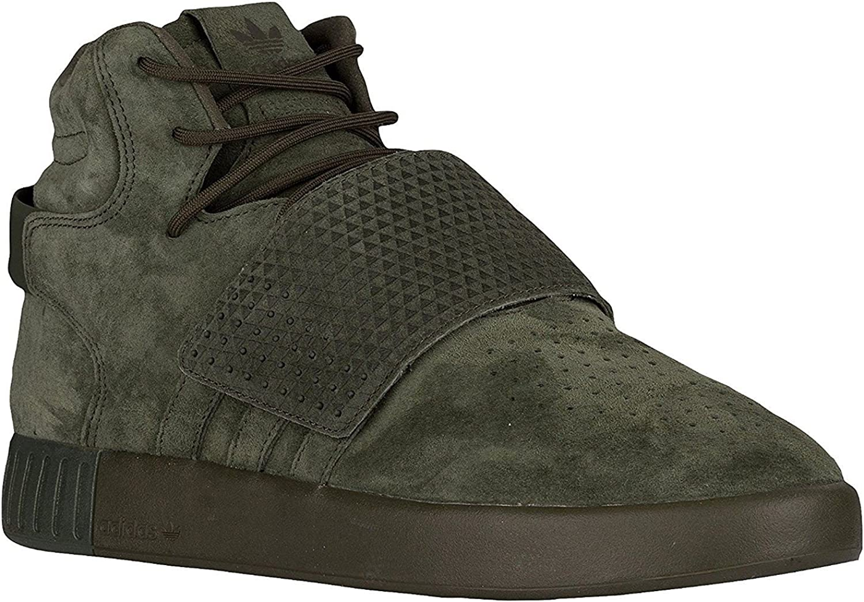 Adidas Originals Tubular Invader Strap Men′s Genuine Leather Sneaker bluee BB5036