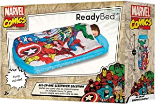 ReadyBed Marvel Comics All in One Sleepover Bed Airbed and Sleeping Bag in One Nap Mat Captain America Thor Spiderman Iron Man