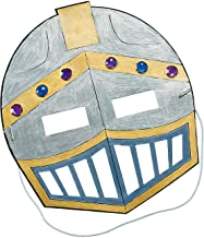 Color Your Own Knight Mask Craft Kit (Makes 12) - Crafts for Kids and Fun Home Activities