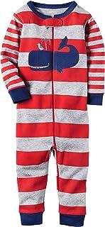Baby Boys' 1-Piece Snug Fit Footless Cotton Pajamas (12...