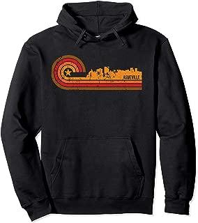 Retro Asheville Cityscape - Asheville NC Skyline Pullover Hoodie