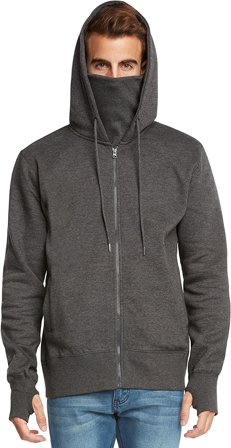 9 Crowns Men's Fleece Full-Zip Ninja Hoodie Essentials
