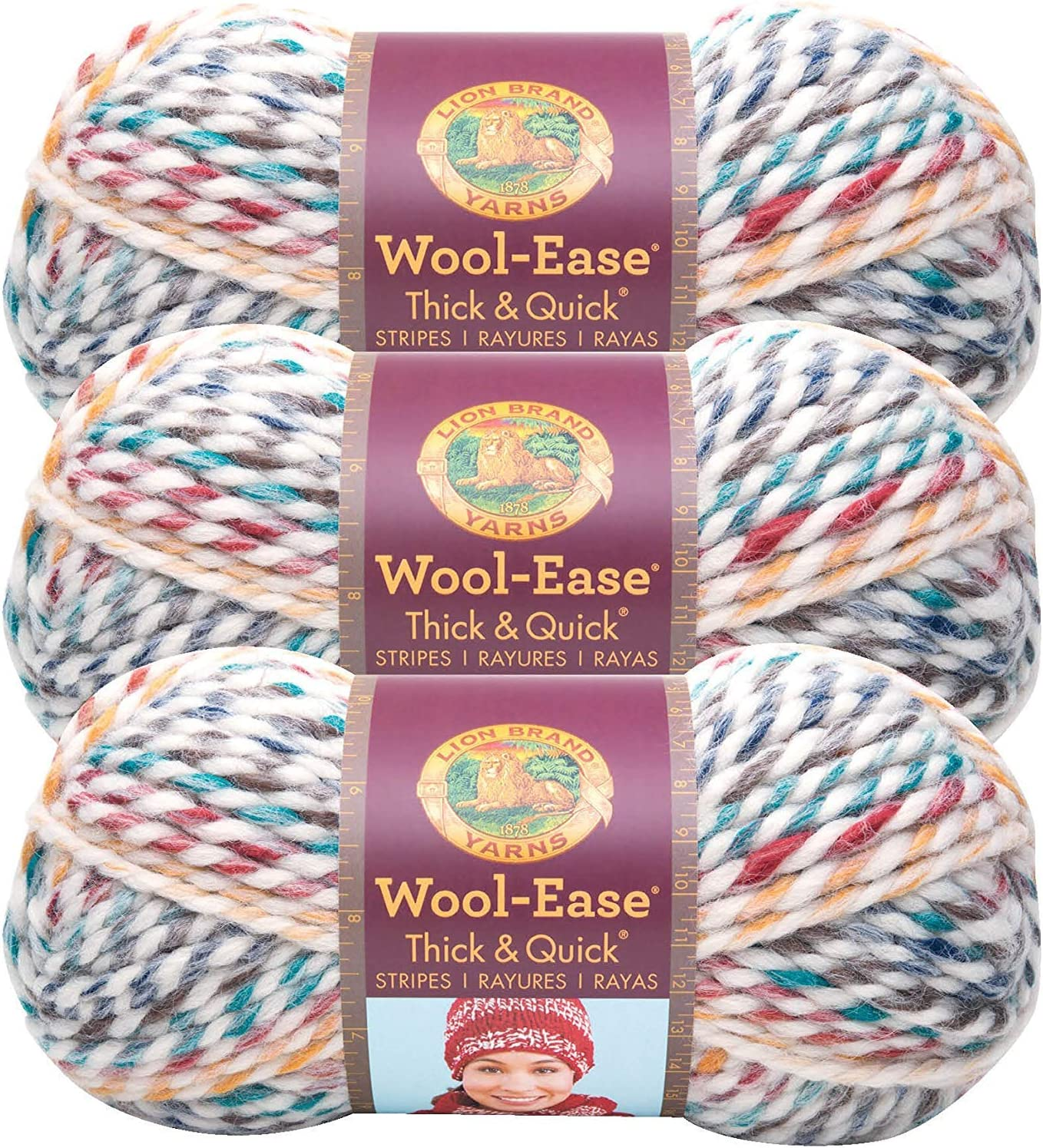 Lion Brand Wool Ease Thick and 640 Directly managed store Hudson Under blast sales 3-Pack Yarn Bay Quick