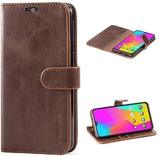 Mulbess Cover per Samsung Galaxy M20, Custodia Pelle con Magnetica per Samsung Galaxy M20 [Vinatge Case], caffè Marrone