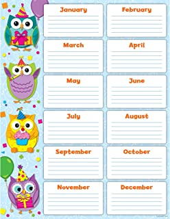 Carson Dellosa Colorful Owls Birthday Chart (114199)