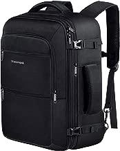 Carry On Travel Backpack , 40L Flight Approved Weekender Backpack, Expandable Large Travel Backpacks Bag for Men Women, Water Resistant Luggage Rucksack Daypack for Outdoor,Black