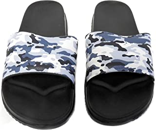 DINY Home & Style Mens Sandal Slide Camo Print Hunting Camouflage Flip Flop Beach Pool Slipper