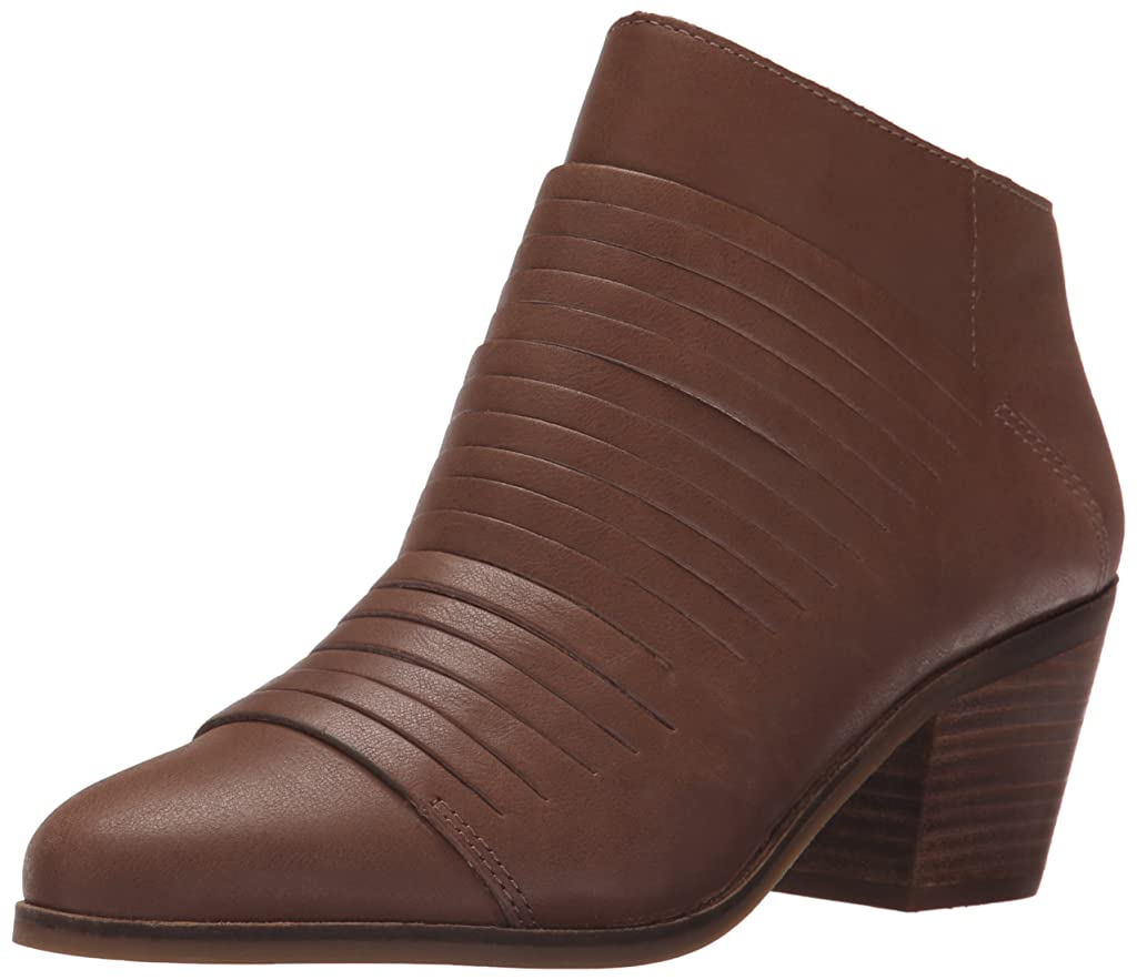 骨の折れるトマト散髪Lucky Brand Womens Zavrina Almond Toe Leather Fashion Boots