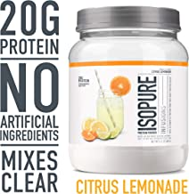 "ISOPURE INFUSIONS, Refreshingly Light Fruit Flavored Whey Protein Isolate Powder, ""Shake Vigorously & Infuses in a Minute"", Citrus Lemonade, 16 Servings"