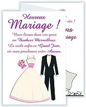 Amazonfr Texte Felicitation Mariage Livraison Gratuite