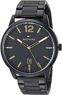 Tommy Hilfiger Men's Quartz Watch with Stainless-Steel Strap, Black, 21.9 (Model: 1791499)