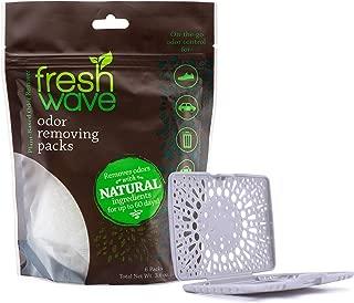 Fresh Wave Odor Removing Packs, Bag of 6 + Bonus Fresh Pod Case