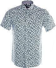 Ted Baker Men's Woolrus Short Sleeve Novelty Print Shirt