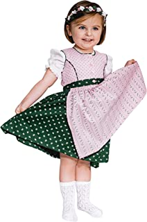 A Gwond vom Land Dirndl mit Bluse und Schürze Mädchen Baby Kinder Grün Rosa