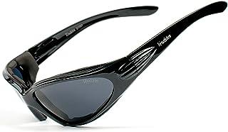 Verdster Airdam - Lunettes de Soleil Polarisées Moto pour Homme - Protection UV, Design Enveloppant et Confortable Rembour...