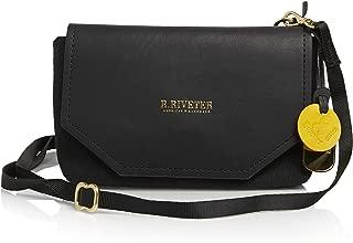 R. Riveter Whittle Signature Black Canvas & Black Leather Belt Bag