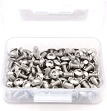 iExcell 100 Pcs M5 x 8 mm Stainless Steel 304 Hex Socket Button Head Cap Screws, Come in an Easy-use Storage Case