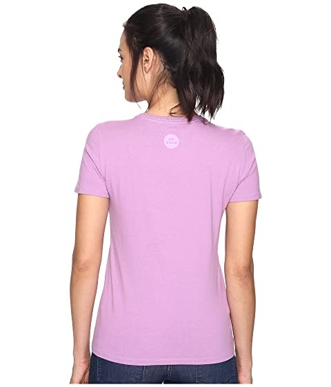 Life is Good Heart Crusher Tee Dusty Orchid Free Shipping Visit 4HHrhwY