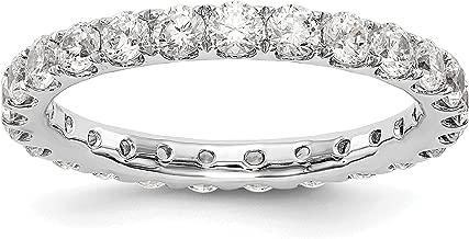 14k White Gold True Origin Lab-Grown Diamond Eternity Band Ring, VS/E- 1.501 cttw Ideal For Women