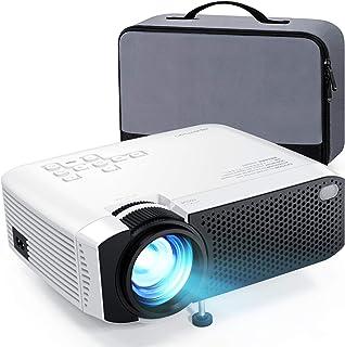 APEMAN mini rzutnik 1080p Full HD z torbą, cichy, projektor