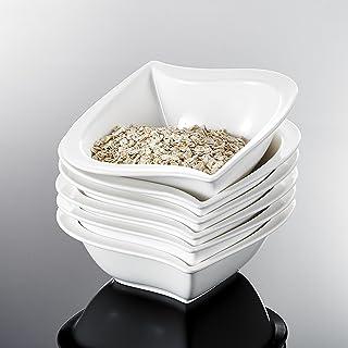 comprar comparacion MALACASA, Serie Elvira, 6 Piezas Vajilla de porcelana 5.5''Cuenco para Sopa Cuenco arroz para 6 Persona