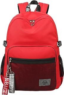 Simple Fashion Women School Bag Waterproof Hiking Backpack Cool Sports Backpack Laptop Bag for Teenager Girls Red