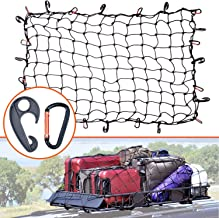 3'x4' Super Duty Bungee Cargo Net Stretches to 6'x8' for Oversized Rooftop Cargo Rack & Small Trucks | Narrow 3