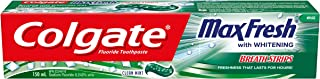 Colgate MaxFresh Toothpaste with Mini Breath Strips, Clean Mint, 150 Milliliters