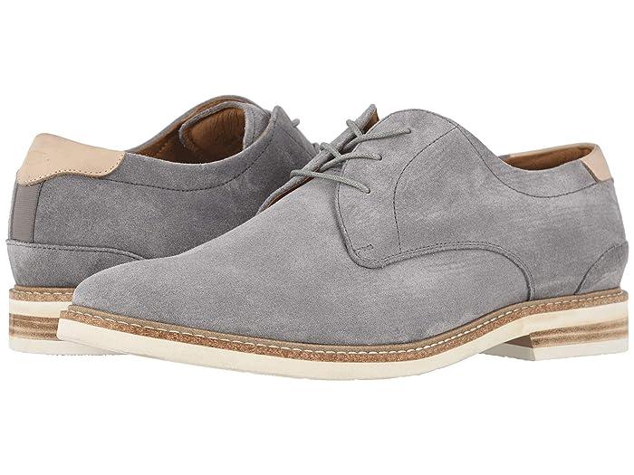 Florsheim  Highland Plain Toe Oxford (Gray Suede/White Sole) Mens Shoes