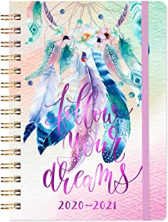 """2020-2021 Planner - Academic Weekly & Monthly Planner, 6.4"""" x 8.5"""", July 2020 - June 2021, Flexible Hardcover with Elastic Closure, Coated Tabs, Inner Pocket - Colorful Dreamcatcher"""