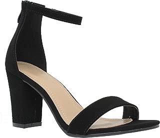 Womens Stylish Soda Comfortable Block Strappy Heel