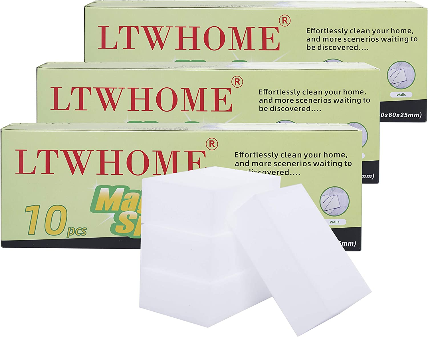 LTWHOME Magic Year-end annual account Cleaning Sponge Melam Multi-Functional Save money Size Medium