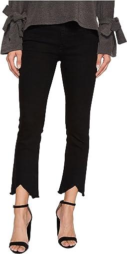 J.O.A. - Distressed Hem Bootcut Jeans