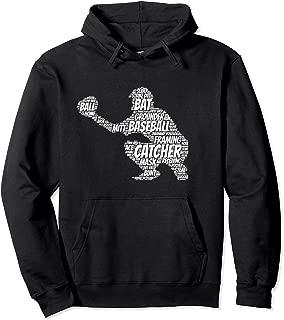 Baseball Catcher Hoodie with Word Art