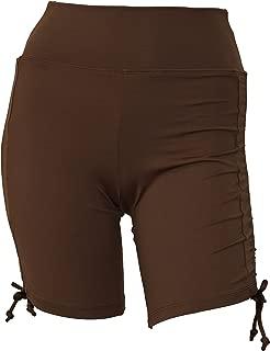 Women Side Tied Plus Size UPF 50+ Swim Board Shorts Rash Gaurd