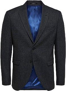 Selected Men's Slhslim-leediver Dk Grey Strc BLZ B Noos Blazer