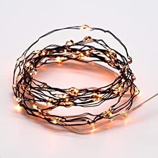 MIYA LIFE Halloween Orange String Lights 10ft 60LEDs Copper Wire with Remote & Timer for Fall Thanksgiving Christmas Birthday Gift Autumn Indoor Outdoor Parties Home Bedroom Bar Decoration