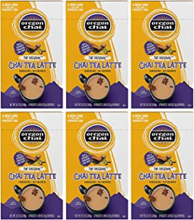 Oregon Chai Original Chai Tea Latte Powdered Mix, 8 Count Envelopes per Box, 1.1 oz each (31g) (Pack of 6), Powdered Spice...