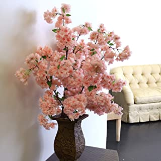 Larskilk Pink Cherry Blossom Flowers, Three 36 Inch Blossom Branches, Wedding, Party, Event, Spring D�cor, Japan's National Flower