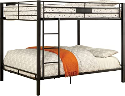 Amazon Com Denley Twin Over Twin Bunk Bed Silver Kitchen Dining