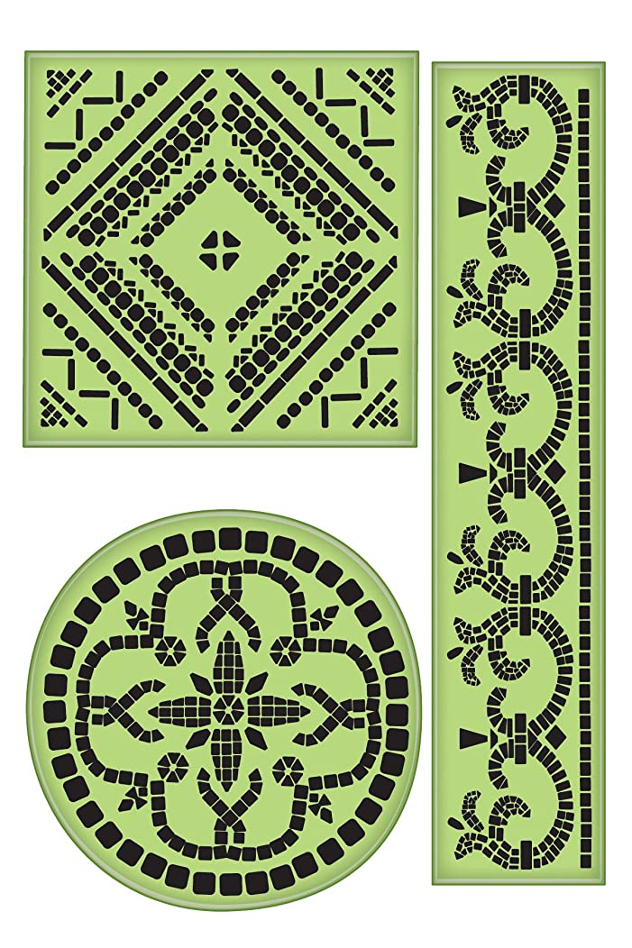 Inkadinkaclings Rubber Stamps That Cling, Large Mosaics