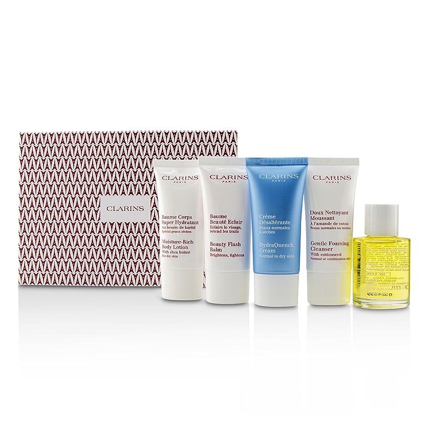 ゴールド有罪競争力のあるクラランス French Beauty Box: 1x Cleanser 30ml, 1x HydraQuench Cream 30ml, 1x Beauty Flash Balm 30ml, 1x Body Treatment Oil, 1x B/L 5pcs並行輸入品