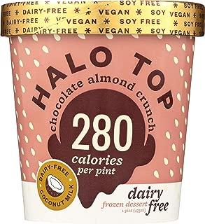Halo Top Chocolate Almond Crunch Dairy Free Frozen Dessert,, 16 oz (Pack of 8)