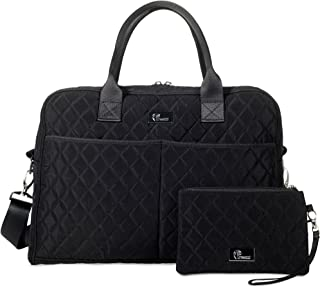 Quilted Tote Bag for Women w/Bonus Wristlet