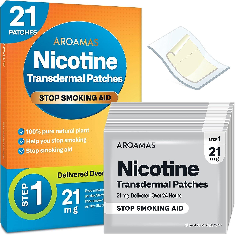 Aroamas Nicotine Patches to Help - Quit Albuquerque Mall De Stop Max 67% OFF Smoking