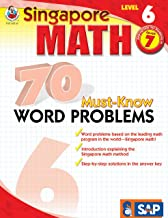 Singapore Math – 70 Must-Know Word Problems Workbook for 7th Grade Math, Paperback, Ages 12–13 with Answer Key
