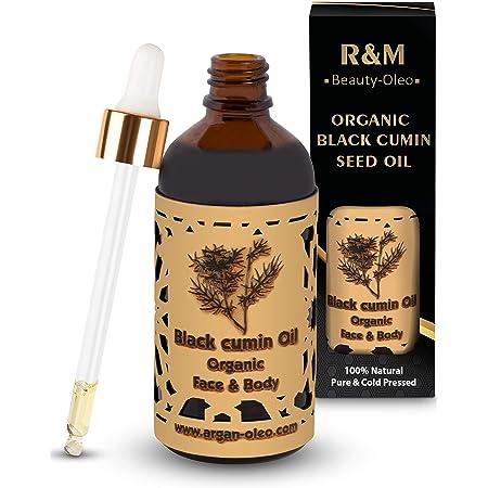 R&M Beauty-Oleo Schwarzkümmelöl - Premium Schwarzkümmel Oil Bio Kaltgepresst Für Gesicht Und Körper - Für Eine Schönere Haut Und Ein Reines Gesicht - 100ml