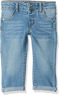 DKNY Girls' Hi Ankle Rolled to Capri Jamie Jeggings