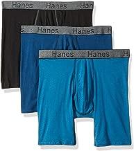 Hanes Men's 3-Pack Comfort Flex Fit Ultra Soft Long Leg Boxer Brief