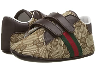 Gucci Kids New Ace Sneakers (Infant/Toddler) (Beige Multi) Kid